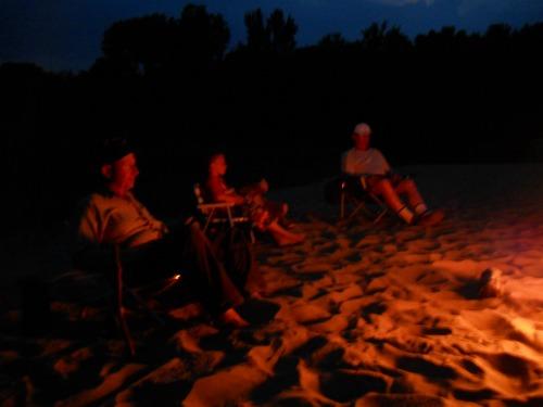 Sandbar campfire