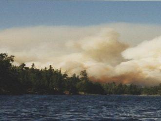 Sag Lake Fire Saganaga Lake Boundary Waters