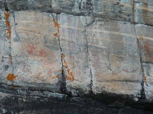 Native American pictographs Agnes