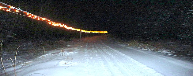 Night cross-country skiing in Wisconsin