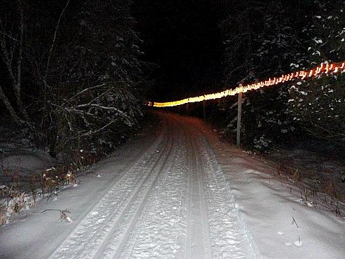 Night skiing Palmquist Farm