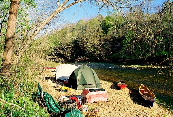Camping Jack's Fork Missouri