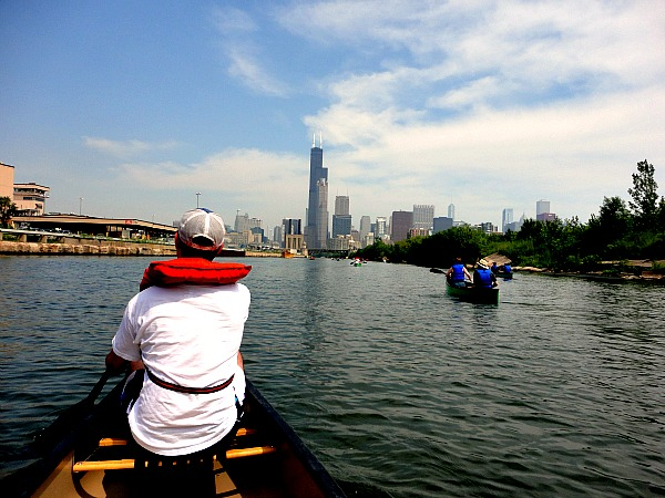 Chicago River paddle