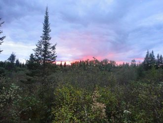 North Country Scenic Trail sunset