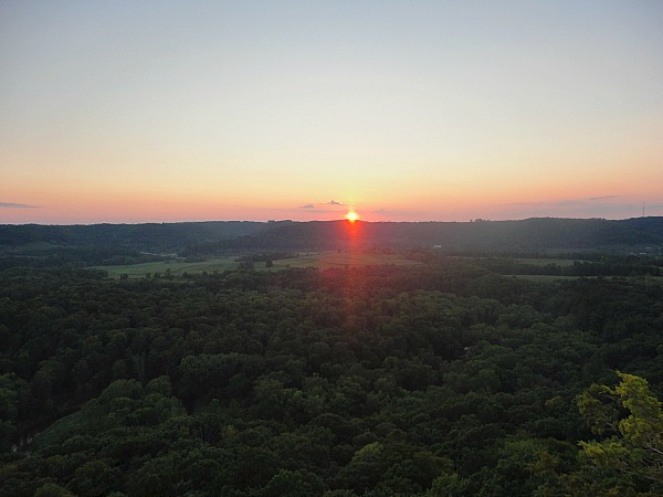 Wildcat Mountain State Park sunset