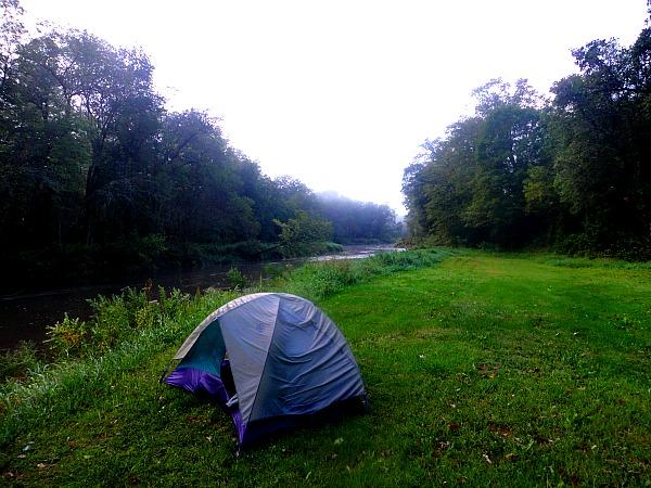 Camping Kickapoo River Wisconsin