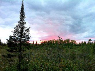 Wisconsin northwoods sunset