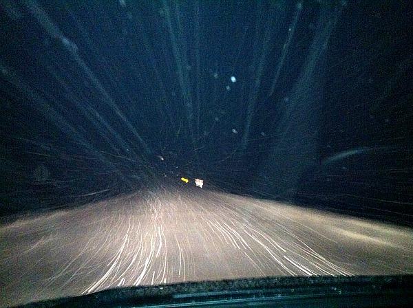 Gunflint Trail snowfall