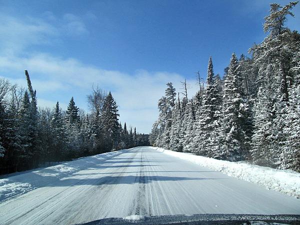 Gunflint Trail snow