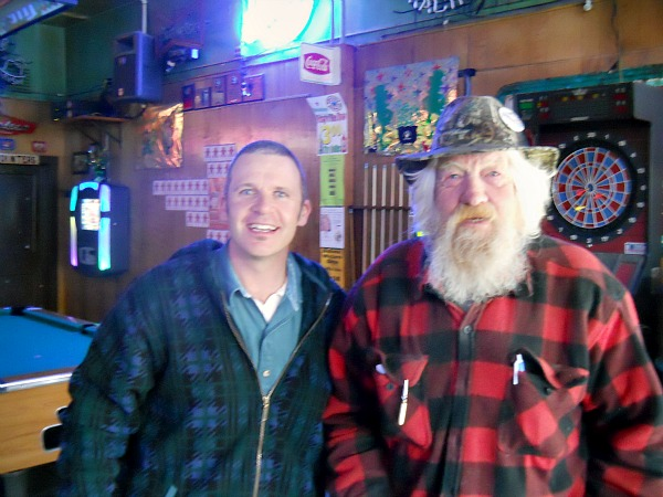 Getting some advice from a veteran of Walleye Days and fishing
