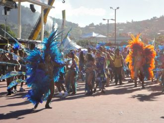 Outlandish costumes at Carnival