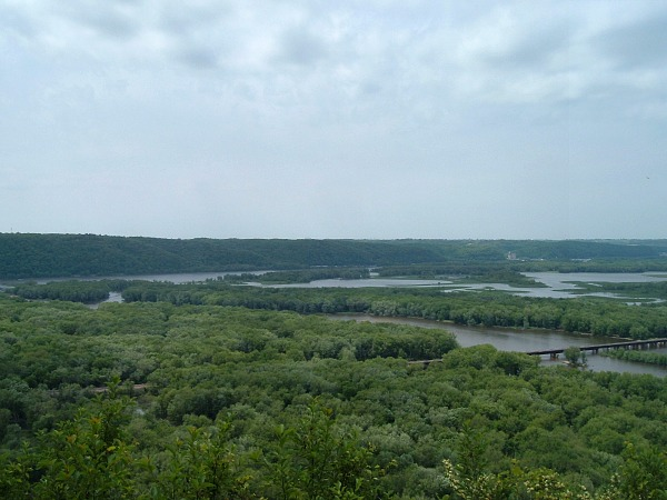 Wisconsin Mississippi River confluence