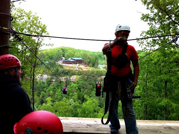Red River Gorge ziplining
