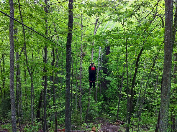 Red River Gorge zipline tour Kentucky
