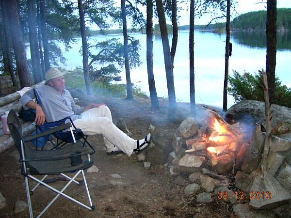 Quetico campfire