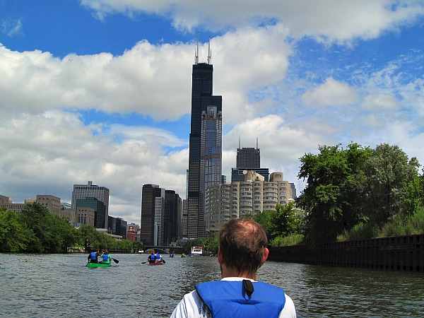 Canoeing Chicago River