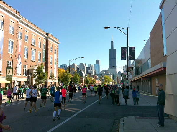Running and peeing the Chicago Marathon