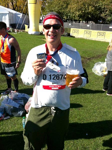 Chicago Marathon finish