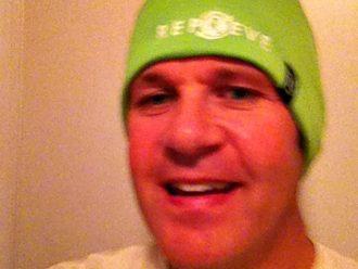 Repreve green beanie