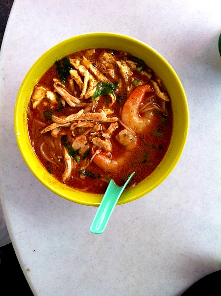 Laksa soup in Kuching