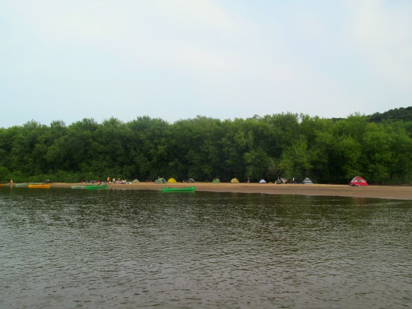 Wisconsin River camping