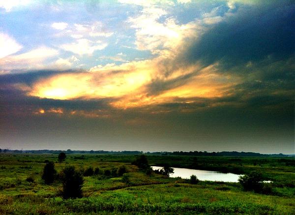 Goose Lake State Natural Area sunset