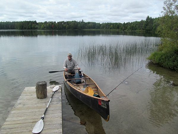 Ontario canoeing fishing camping