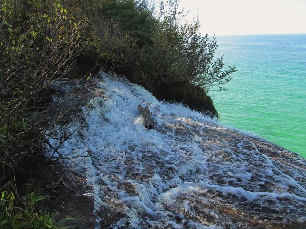 Pictured Rocks Spray Falls
