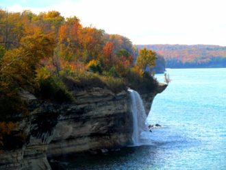 Spray Falls Pictured Rocks