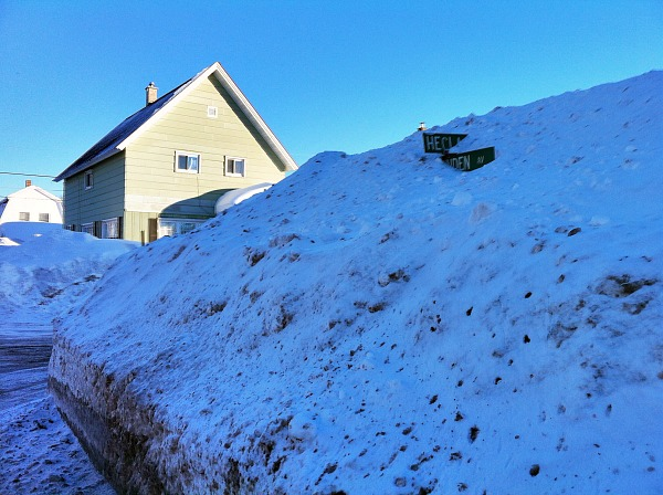 Keweenaw Peninsula snow