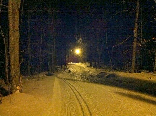 Nine Mile Recreation Area night skiing