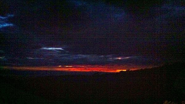 Monteverde night walk sunset