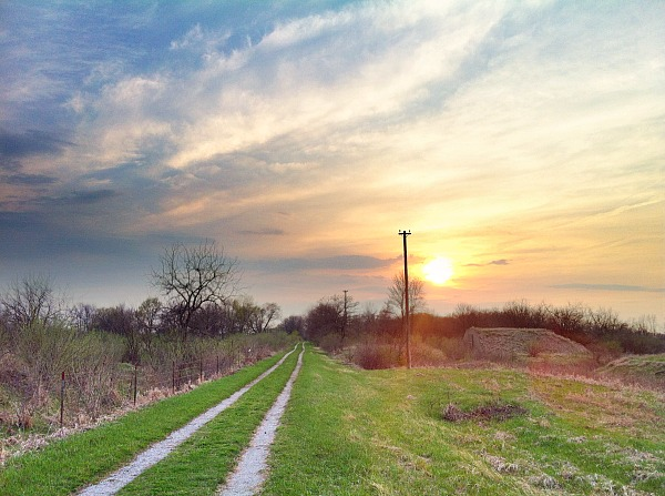 Midewin National Tallgrass Prairie sunset