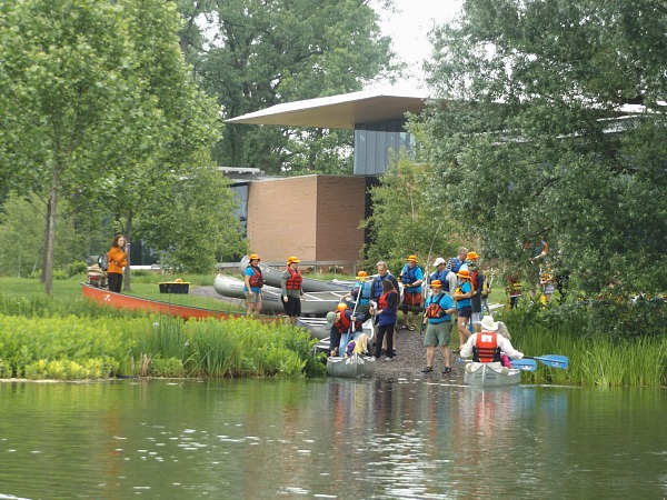 Chicago Botanic Gardens canoeing adventure