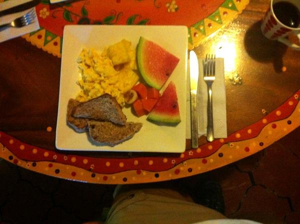 La Colina Lodge breakfast