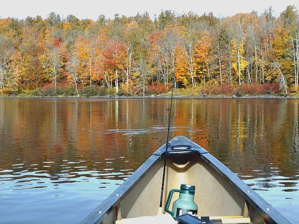Flambeau River canoeing peak leaf season Wisconsin