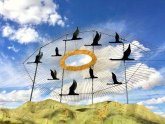 Enchanted Highway Geese in Flight