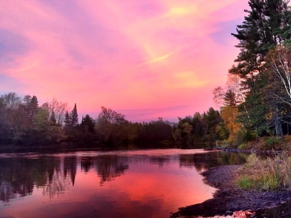 Flambeau sunset