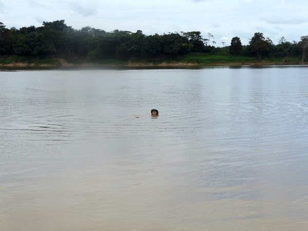 Yavari River swimming