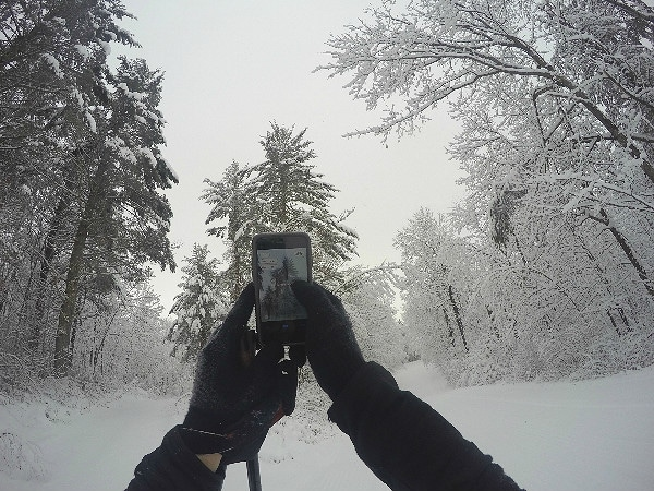 GoPro cross country skiing