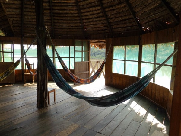 Zacumba Rainforest Lodge hammocks
