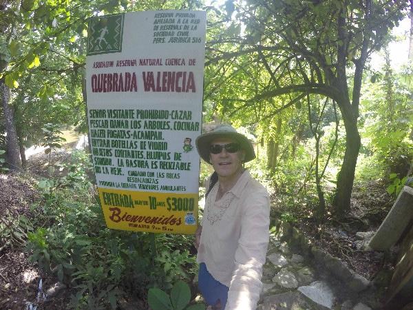 Valencia Waterfall sign