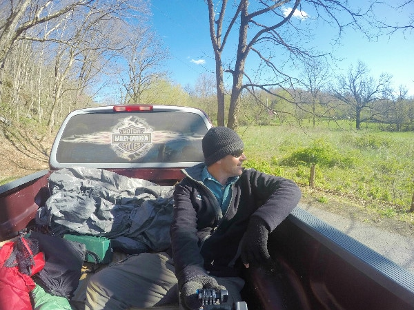 GoPro pickup truck