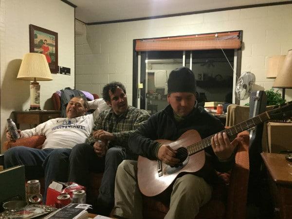 Guitars fishing cabin