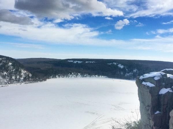 Devil's Lake State Park winter