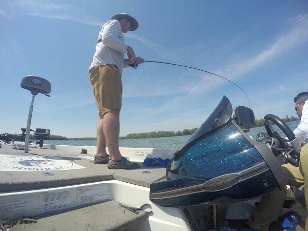 GoPro fishing Traverse City