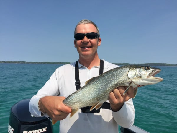 Traverse City lake trout fishing