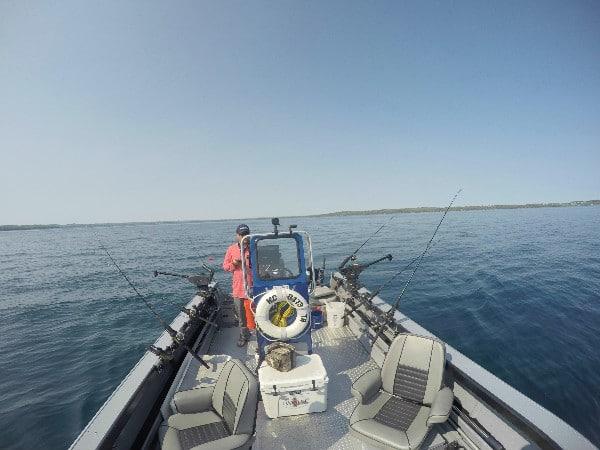 GoPro lake trout fishing