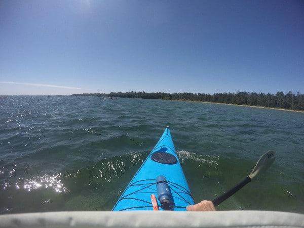 GoPro sea kayaking