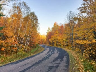 Copper Falls State Park fall color